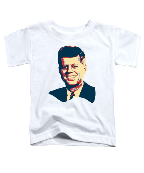 John F Kennedy Color Pop Art Toddler T-Shirt