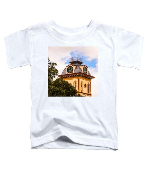 John W. Hargis Hall Clock Tower Toddler T-Shirt