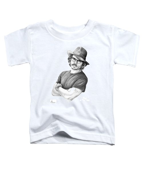 Johnny Depp Toddler T-Shirt by Murphy Elliott