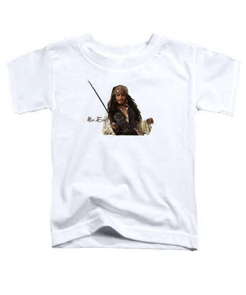 Johnny Depp, Pirates Of The Caribbean Toddler T-Shirt by Maria Astedt