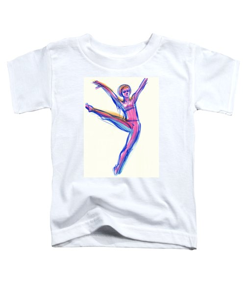 Toddler T-Shirt featuring the painting Joy by Judith Kunzle