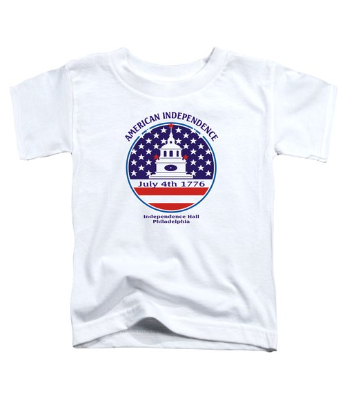 July 4th 1776 - American Independence Day Design Toddler T-Shirt