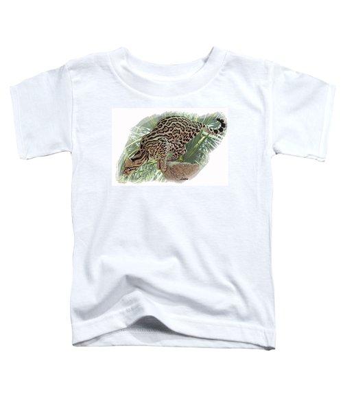 Pouncing Ocelot Toddler T-Shirt