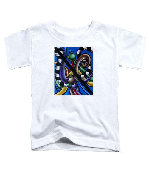 Jungle Stripes 2, Colorful Chromatic Abstract Artwork Toddler T-Shirt