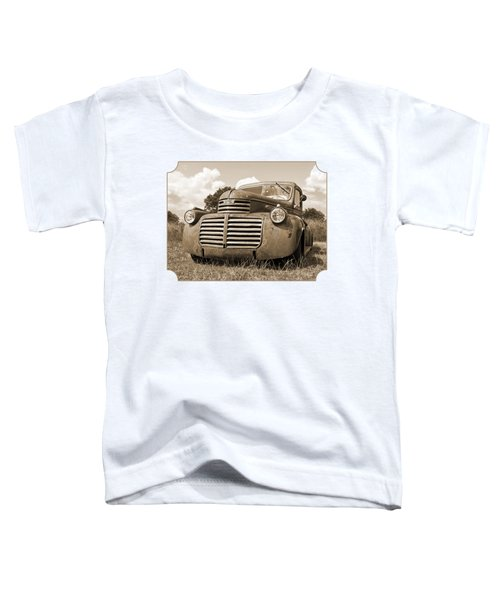 Just Resting - Vintage Gmc Truck In Sepia Toddler T-Shirt