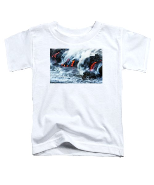 Kamokuna Lava Ocean Entry, 2016 Toddler T-Shirt