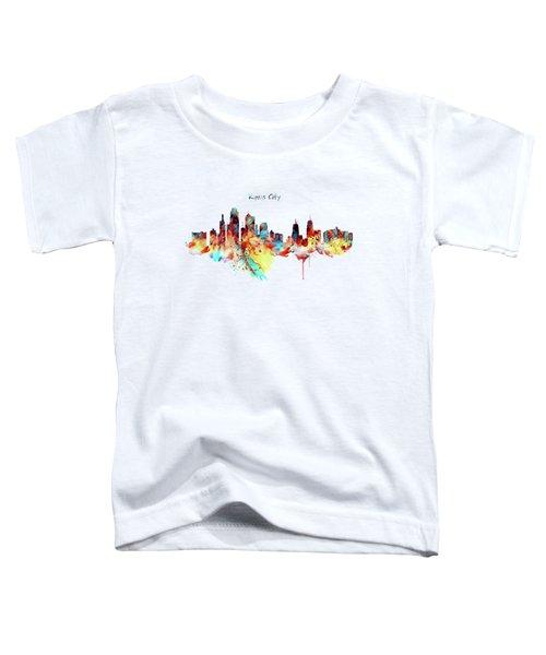 Kansas City Skyline Silhouette Toddler T-Shirt