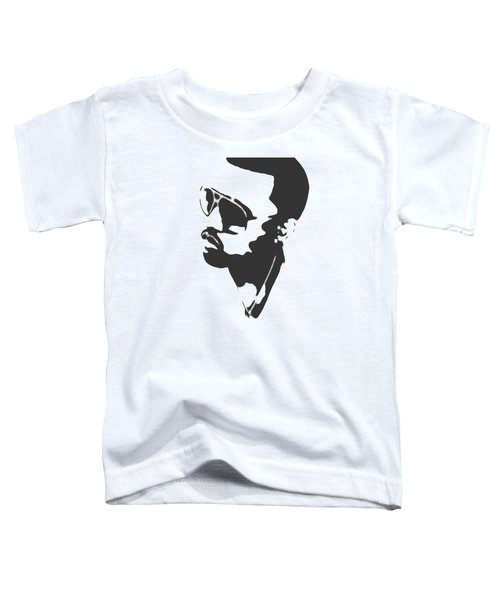 Kanye West Silhouette Toddler T-Shirt by Dan Sproul