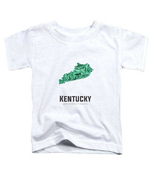 Kentucky Map Art Abstract In Green Toddler T-Shirt