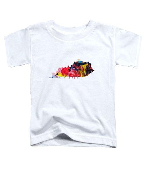 Kentucky Map Art - Painted Map Of Kentucky Toddler T-Shirt