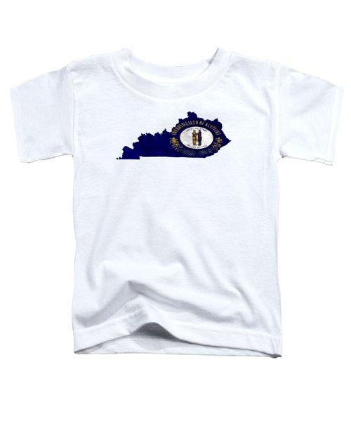 Kentucky Map Art With Flag Design Toddler T-Shirt