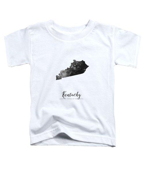 Kentucky State Map Art - Grunge Silhouette Toddler T-Shirt
