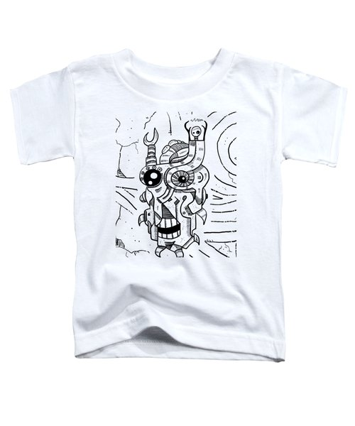 Killer Robot Toddler T-Shirt by Sotuland Art