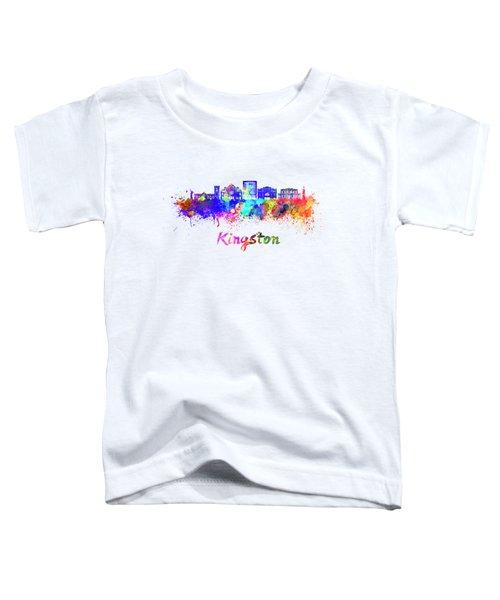 Kingston Skyline In Watercolor Toddler T-Shirt