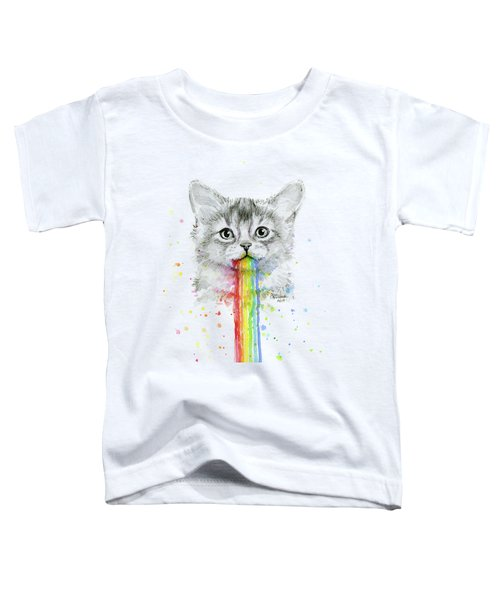 Kitten Puking Rainbows Toddler T-Shirt