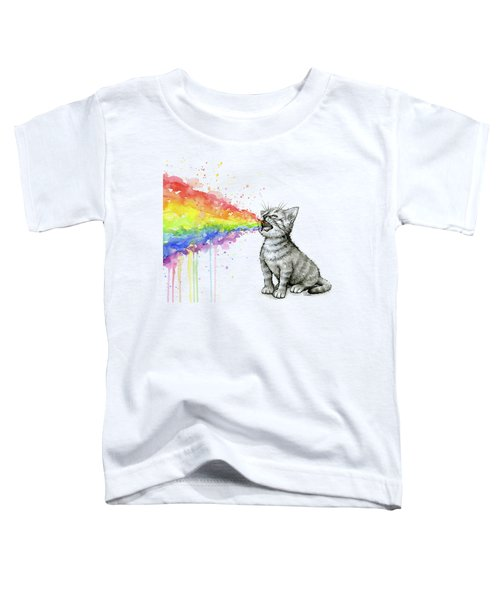 Kitten Tastes The Rainbow Toddler T-Shirt
