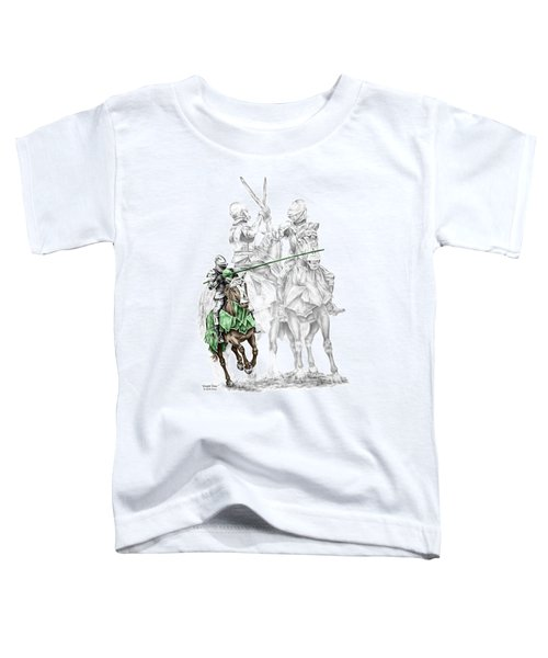 Knight Time - Renaissance Medieval Print Color Tinted Toddler T-Shirt