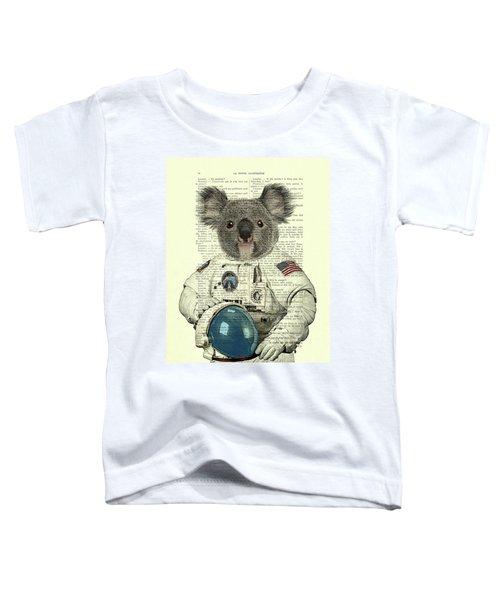 Koala In Space Illustration Toddler T-Shirt