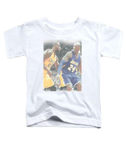 Kobe Bryant Lebron James 2 Toddler T-Shirt by Joe Hamilton