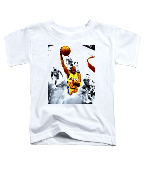 Kobe Bryant Took Flight Toddler T-Shirt by Brian Reaves