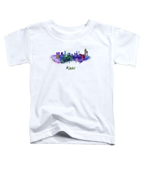 Kobe Skyline In Watercolor Toddler T-Shirt