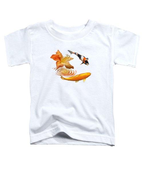 Koi With Azalea Ripples Toddler T-Shirt by Gill Billington