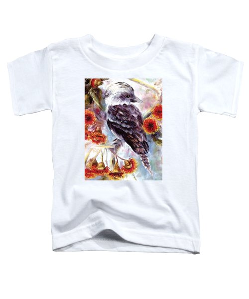 Kookaburra In Red Flowering Gum Toddler T-Shirt
