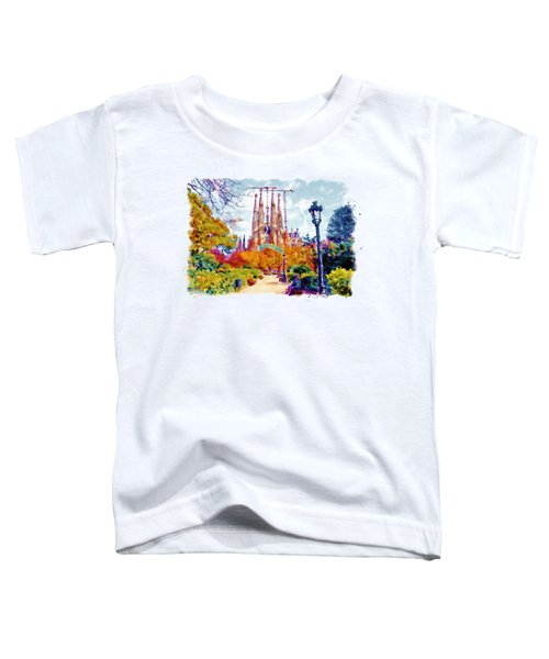 La Sagrada Familia - Park View Toddler T-Shirt by Marian Voicu