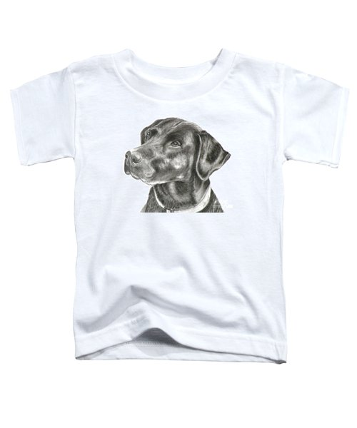 Lab Charcoal Drawing Toddler T-Shirt