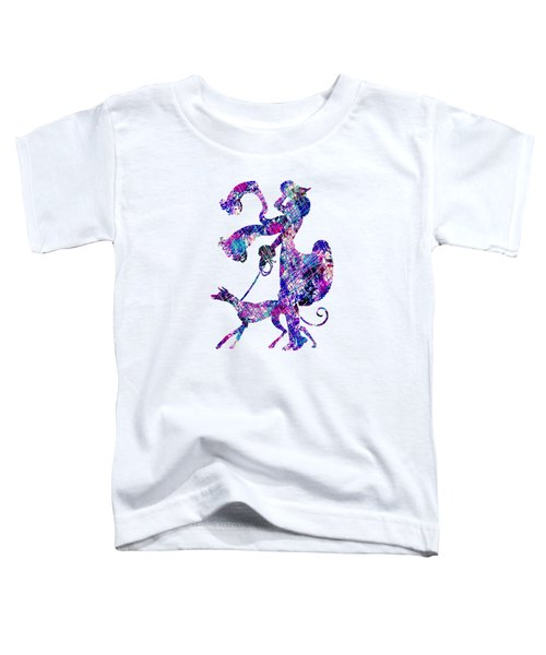 Lady Dog Walker Splashes Transparent Background Toddler T-Shirt