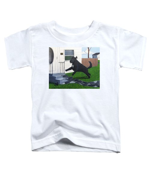 Lady Leaps The Small Front Stairs Toddler T-Shirt