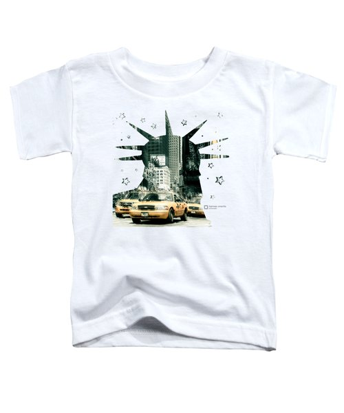 Lady Liberty And The Yellow Cabs Toddler T-Shirt