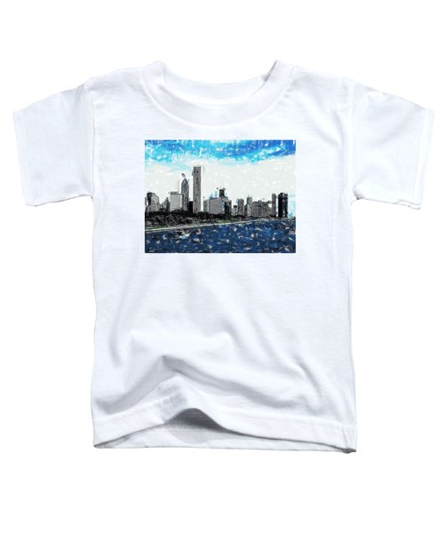 Lake Michigan And The Chicago Skyline Toddler T-Shirt