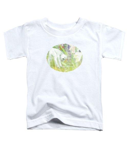 Lamb And Lilies - Verse Toddler T-Shirt by Anita Faye
