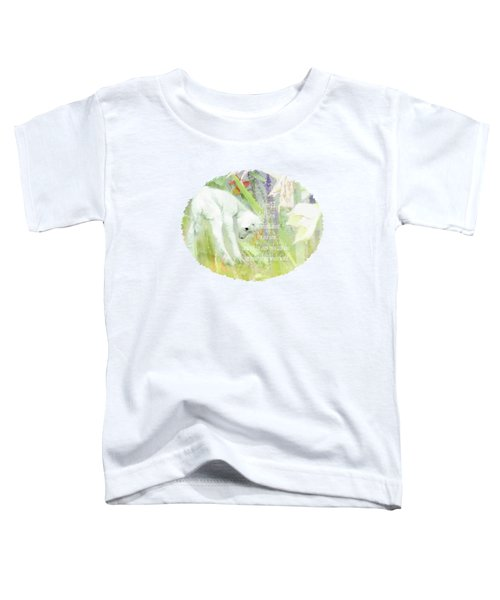 Lamb And Lilies - Verse Toddler T-Shirt