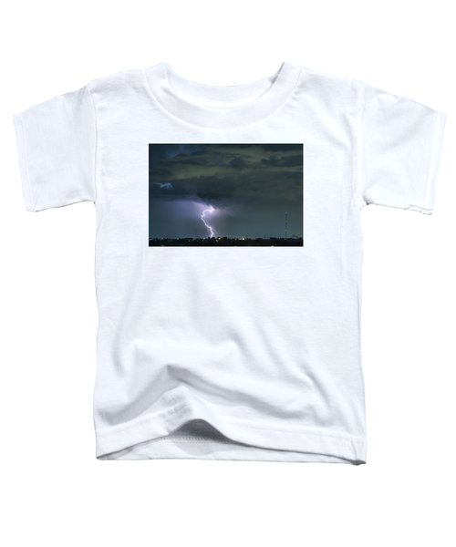 Toddler T-Shirt featuring the photograph Landing In A Storm by James BO Insogna