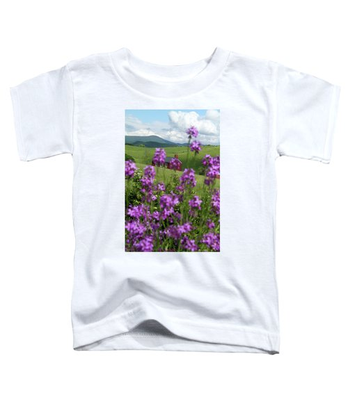 Landscape With Purple Flowers In Virginia Toddler T-Shirt