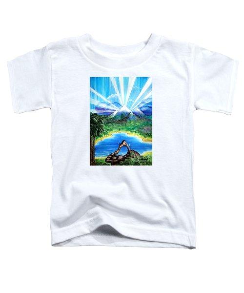 Last Day Of Beautiful Land. Laser Lights Toddler T-Shirt