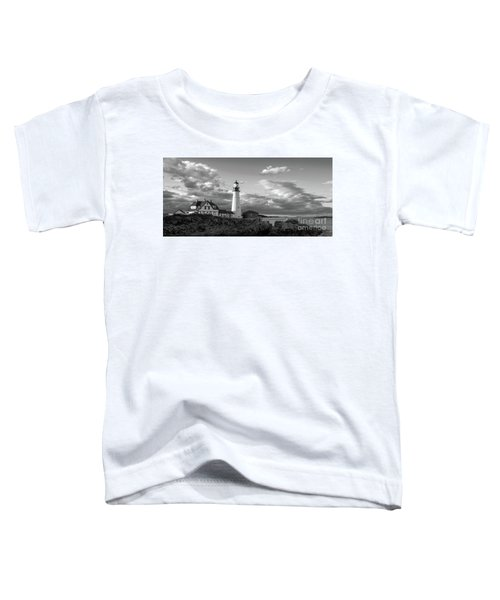 Late Afternoon Clouds, Portland Head Light  -98461 Toddler T-Shirt