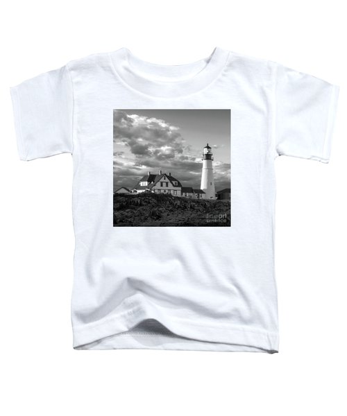 Late Afternoon Clouds, Portland Head Light  -98461-sq Toddler T-Shirt