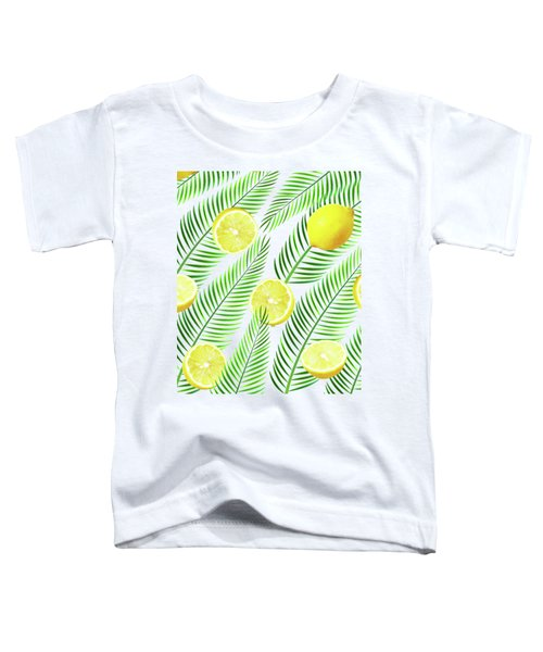 Lemons Toddler T-Shirt by Uma Gokhale