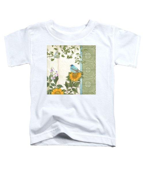 Les Magnifiques Fleurs Iv - Secret Garden Toddler T-Shirt by Audrey Jeanne Roberts