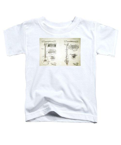 Les Paul Guitar Patent 1955 Toddler T-Shirt