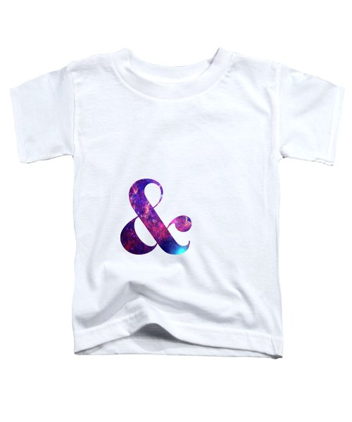 Letter Ampersand Galaxy In White Background Toddler T-Shirt