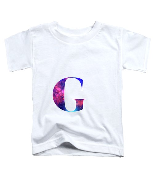Letter G Galaxy In White Background Toddler T-Shirt