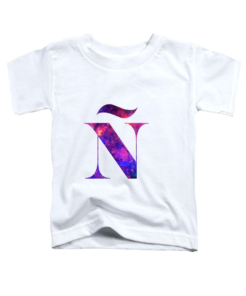 Letter Galaxy In White Background Toddler T-Shirt