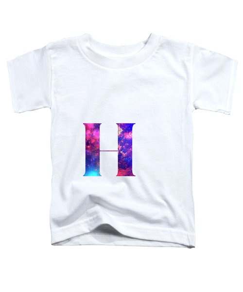 Letter H Galaxy In White Background Toddler T-Shirt