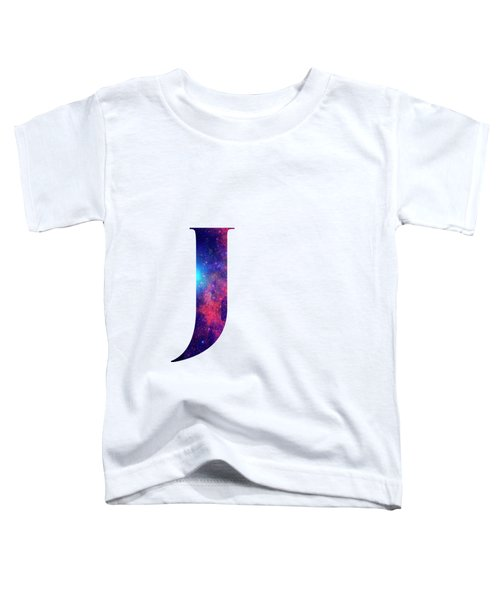 Letter J Galaxy In White Background Toddler T-Shirt