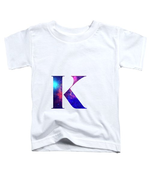 Letter K Galaxy In White Background Toddler T-Shirt