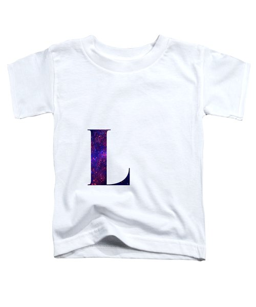 Letter L Galaxy In White Background Toddler T-Shirt